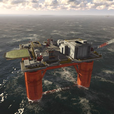 3D Animation │ Offshore Rig