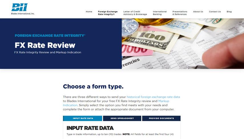 Blades Input Rate Data │ Web Development