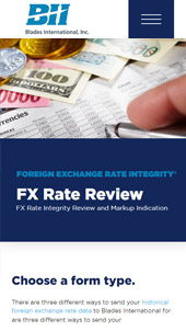 FX Rate Review │Web Development