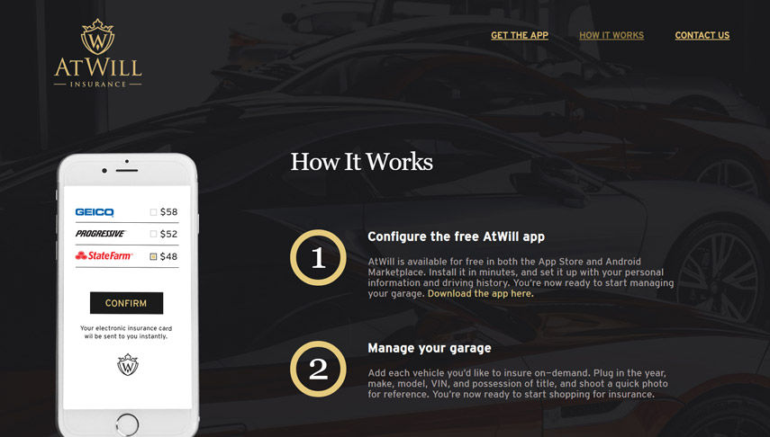 Manage your garage with the AtWill application │ Web design │ App
